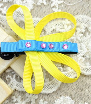 Butterfly Ribbon Hair Clips