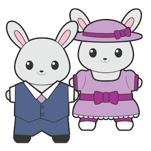 Printable Buddies Easter Paper Dolls