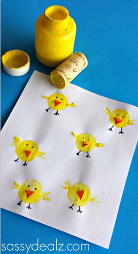 Cork-Stamped Chicks