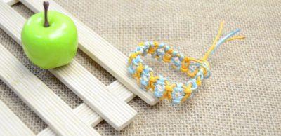Friendship Bracelet with Lark's Head Knots