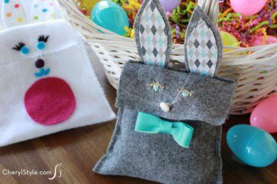 Felt Easter Bunny Bags