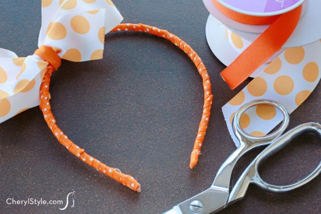Ribbon-Wrapped Headband