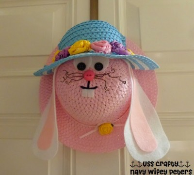 Easter Bunny Door Hanger Fun Family Crafts
