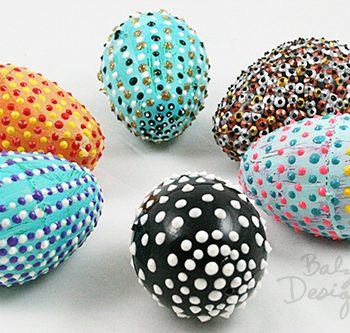 Easy Dotted Easter Eggs