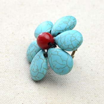 Easy Beaded Flower Ring