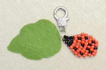 Ladybug Beaded Keychain