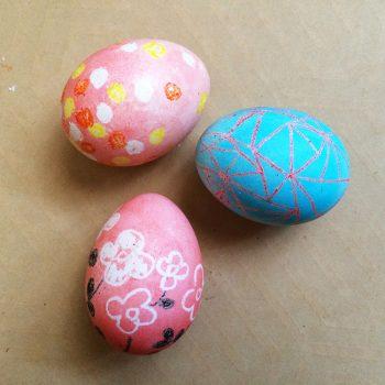 Crayon Resist Easter Eggs