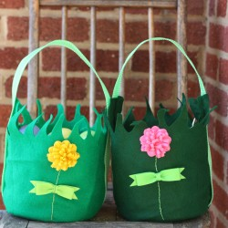 DIY Felt Easter Baskets
