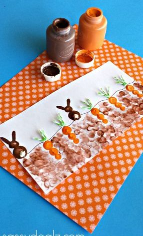 Fingerprint Bunnies and Carrots