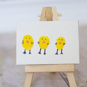 Thumbprint Easter Chicks