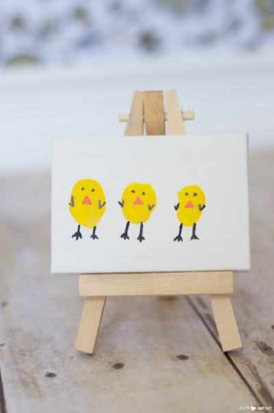Thumbprint Easter Chicks