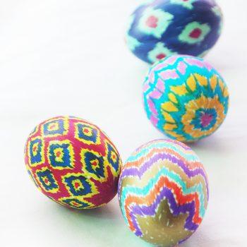 Ikat Easter Eggs
