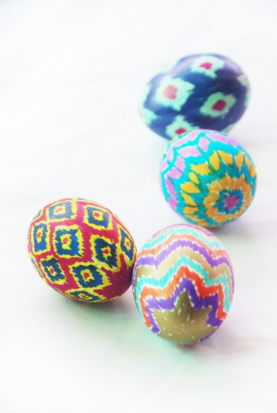 Ikat Easter Eggs