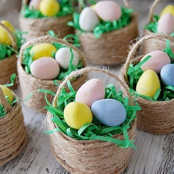 Mini Jute-Wrapped Baskets
