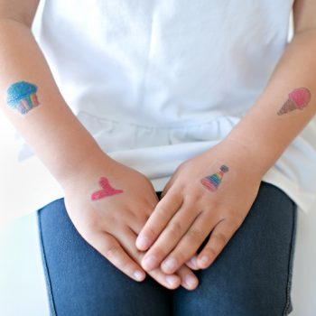 Temporary Tattoos Out of Kids' Art