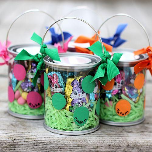 Polka Dot Easter Buckets
