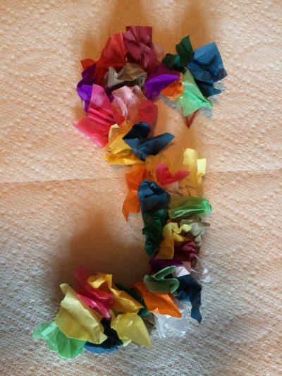 Letter S Spring Tissue Paper Art