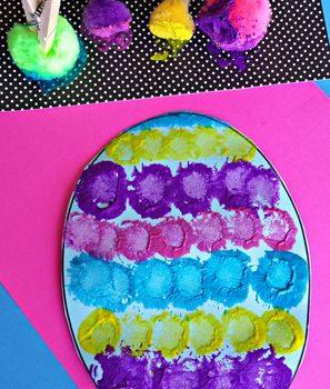 Pom Pom Easter Egg Painting