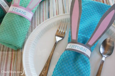 Printable Bunny Napkin Rings