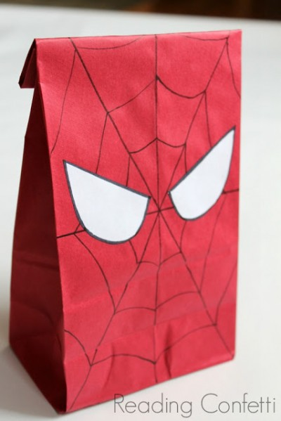 Spiderman Party Bag Fun Family Crafts