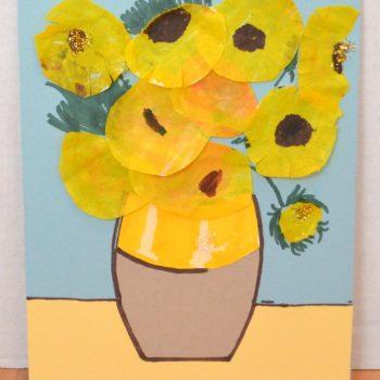 Van Gogh Coffee Filter Sunflowers