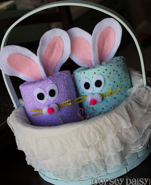 No-Sew Toilet Paper Bunnies