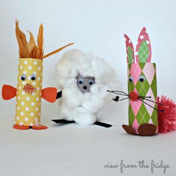 Cardboard Tube Baby Farm Animals