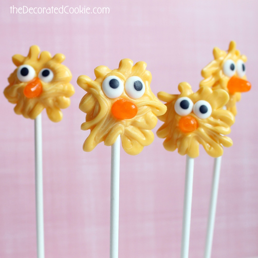 Chick Pops for Easter