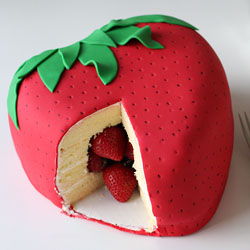 Strawberry Surprise Cake Fun Family Crafts