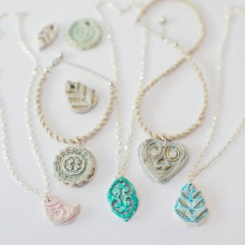Clay Pendant Necklaces