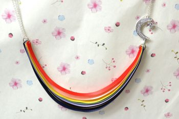 Rainbow Ribbon Necklace