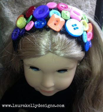 Cute-as-a-Button Headband