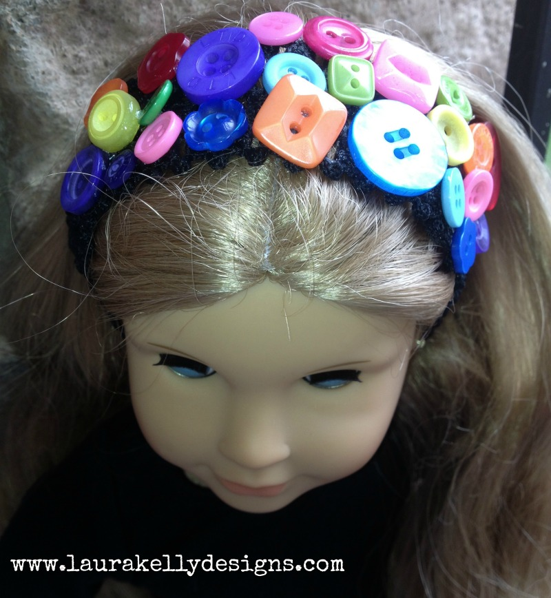 Cute-as-a-Button Headband
