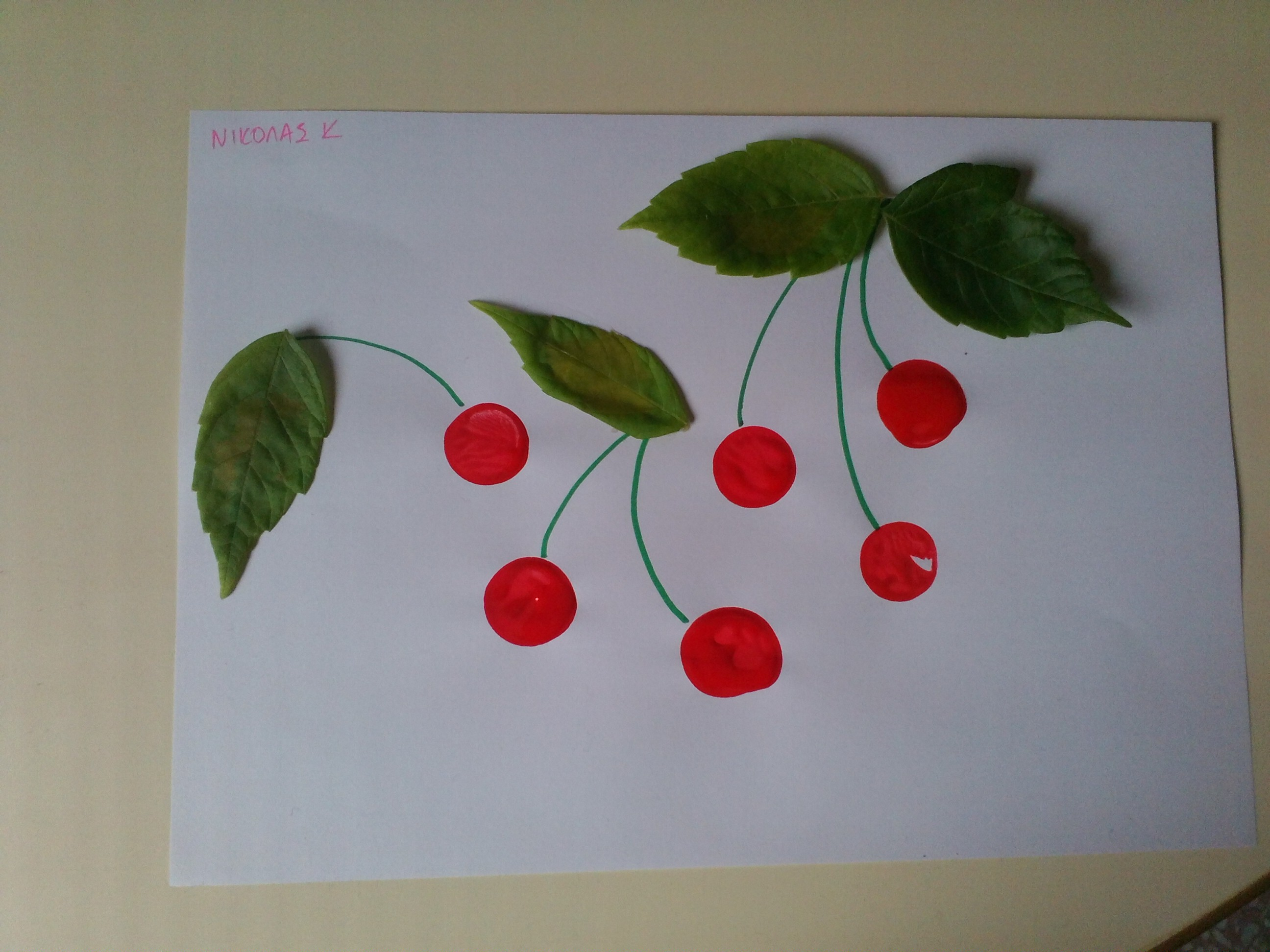 Cherry Collage Fun Family Crafts