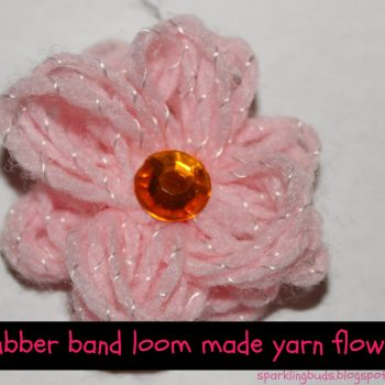 Rubber Band Loom Yarn Flower