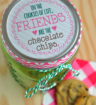 Chocolate Chip Cookie Mason Jar Gift