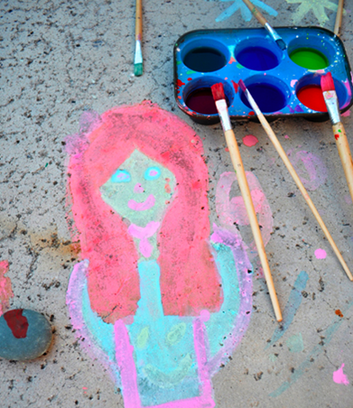 Homemade Sidewalk Chalk Paint