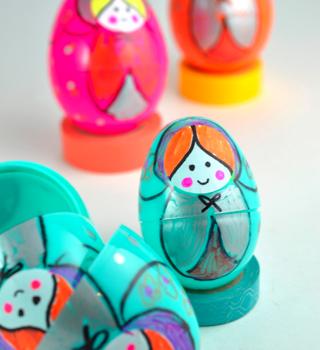 Plastic Egg Nesting Dolls