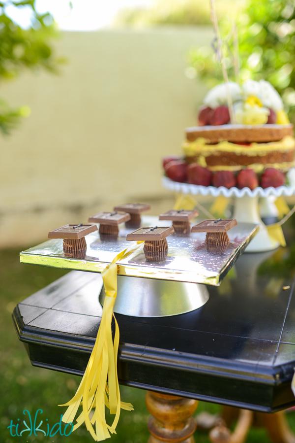 Graduation Cap Cake Stand