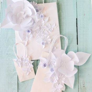 Sculpted Paper Flower Gift Bag
