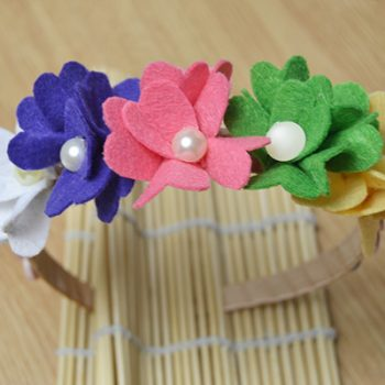 Flower Headband with Buttons