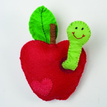 Felt Apple Worm