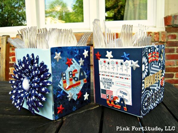 Patriotic Utensil Holder