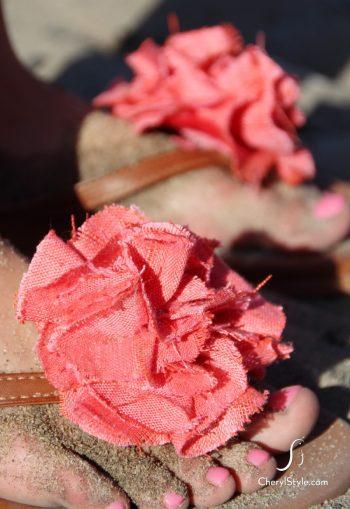 DIY Fabric Flip Flops