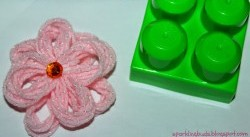 Building Blocks Yarn Flower