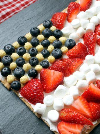 Graham Cracker Flag Dessert