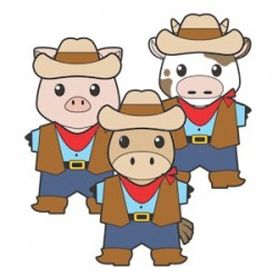Printable Western Buddies Paper Dolls