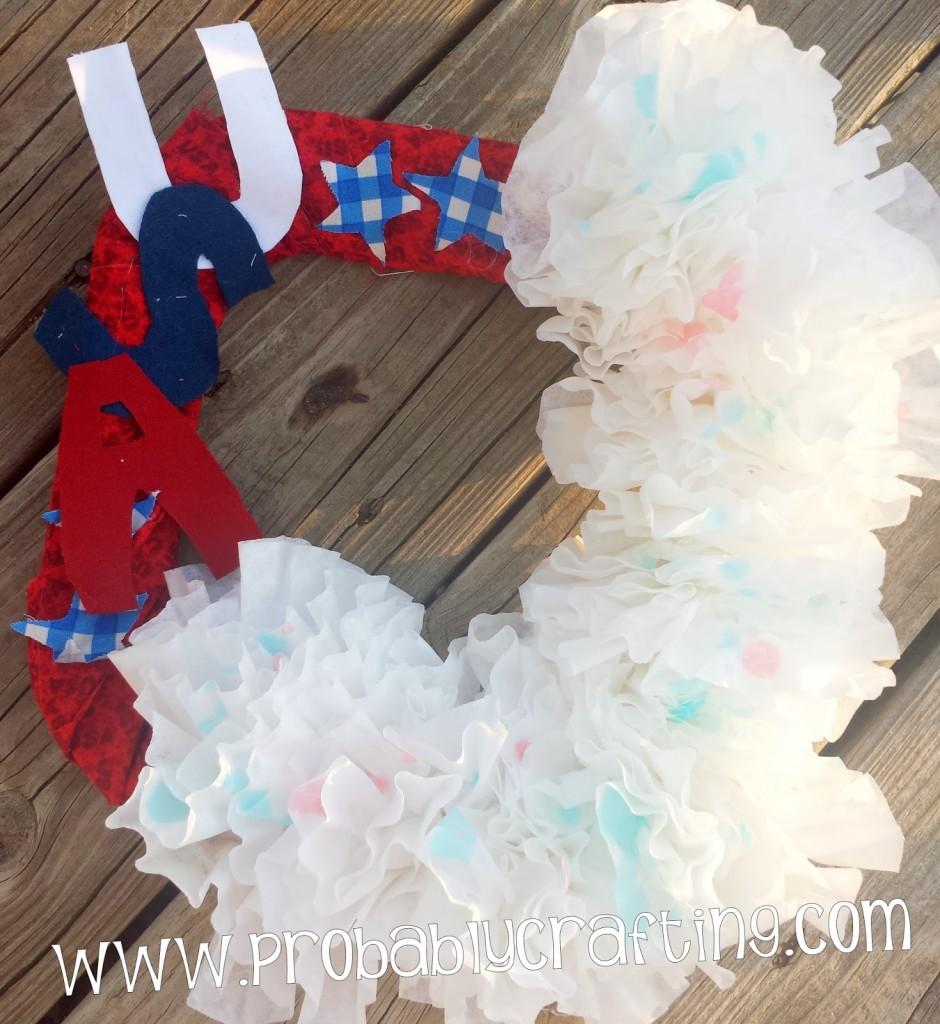 Patriotic Wreath Craft