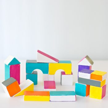 Bright Playful Wooden Blocks