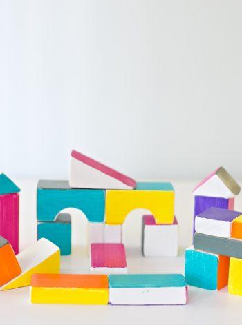 Bright Playful Wooden Blocks